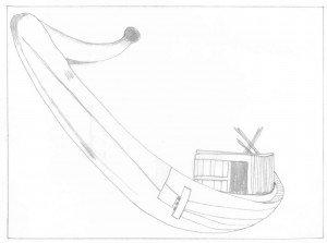 L'ancienneté de l'utilisation de bateaux en mer dans Un savoir-faire d'avant le Néolithique barque-solaire-reconstituee-de-kheops1-300x223