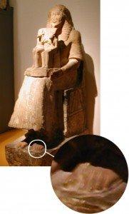 statue-egyptienne-avec-des-sandales-181x300 Chaussures dans Un savoir-faire du Néolithique